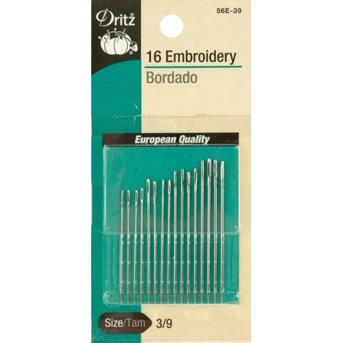 Dritz 16-Piece Embroidery Hand Needles