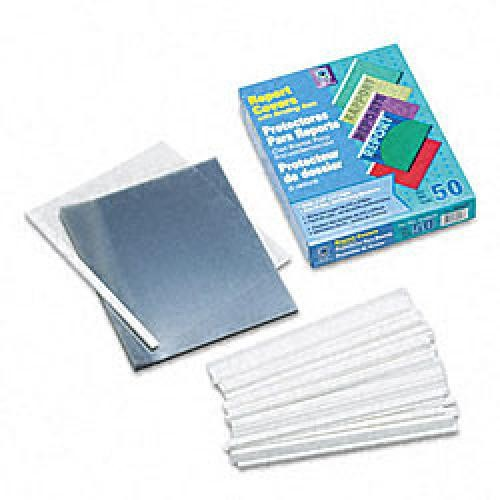 C-Line Vinyl Clear Report Cover 50 Count