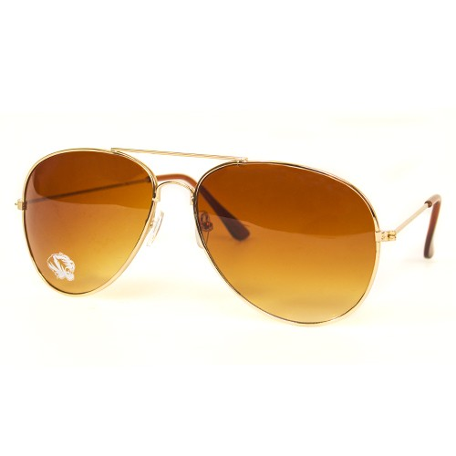 Mizzou Assorted Colors Tiger Head Aviator Sunglasses