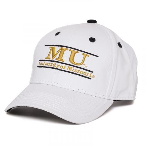 University of Missouri White Adjustable Hat