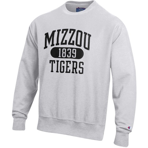 Missouri Tigers Grey Crew Neck Sweatshirt