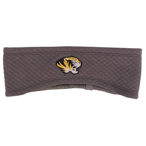 Mizzou Under Armour Tiger Head ColdGear&reg Charcoal Headband