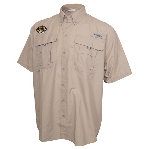 Mizzou Columbia Taupe Fishing Shirt
