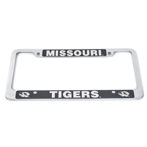Missouri Tigers Silver License Plate Frame