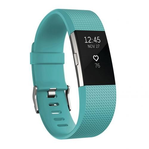 Fitbit Charge 2 Heart Rate Activity Tracker - Large Teal