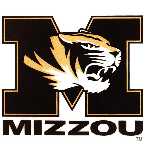 Mizzou Tiger Head Black & Gold Decal