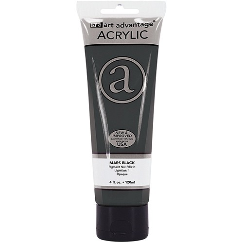 Art Advantage Mars Black 4 oz. Tube Acrylic Paint