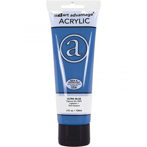 Art Advantage Ultra Blue 4 oz. (120 ml) Acrylic Paint Tube