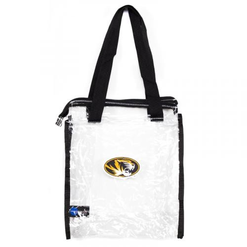Mizzou SEC Compliant Clear Zippered Stadium Tote Bag