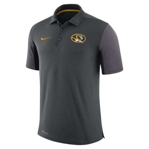 Mizzou Nike&reg Oval Tiger Head Charcoal Polo