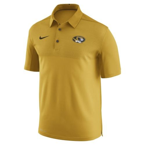 Mizzou Nike&reg Oval Tiger Head Gold Polo