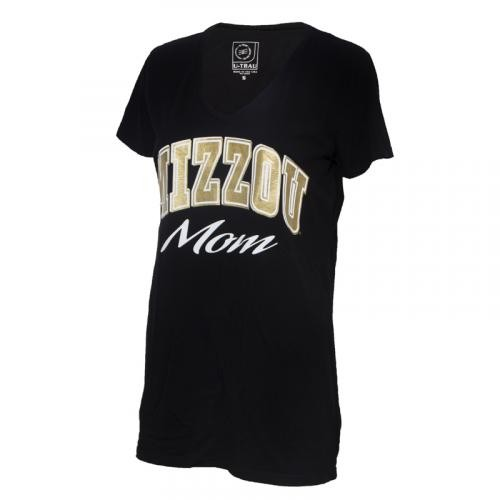 Mizzou Mom Women's Black V-Neck T-Shirt
