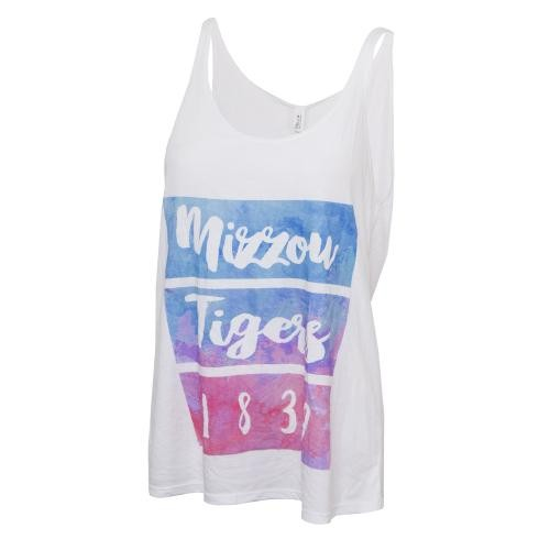 Mizzou Bella + Canvas Juniors' Watercolor Tank Top