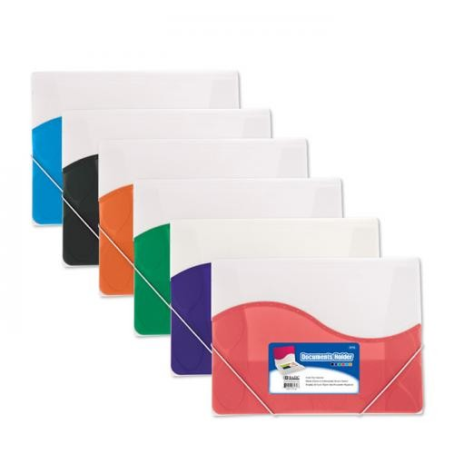 BAZIC Letter Size Document Holder with Elastic Band