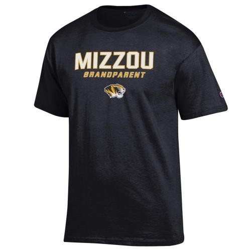 Mizzou Grandparent Black Crew Neck T-Shirt