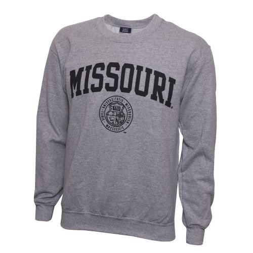 Missouri Official Seal Grey Crew Neck Sweatshirt