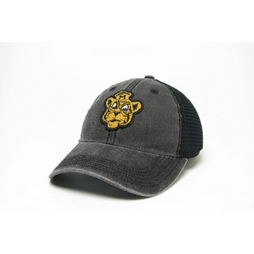 Mizzou Retro Tiger Black Trucker Hat