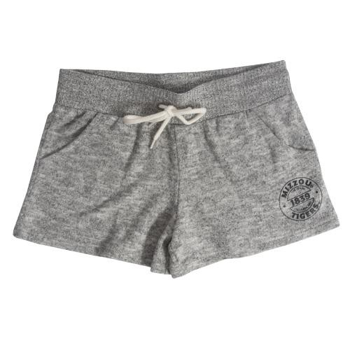 Mizzou Tigers Juniors' Grey Fleece Shorts