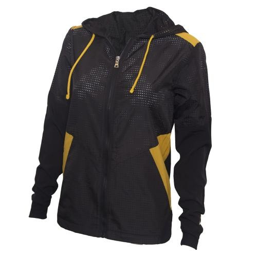 Mizzou Juniors' Black & Gold Mesh Full Zip Jacket
