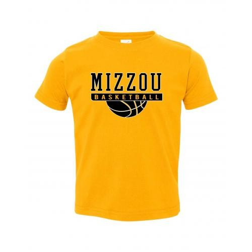 Mizzou Basketball Kids' Gold Crew Neck T-Shirt