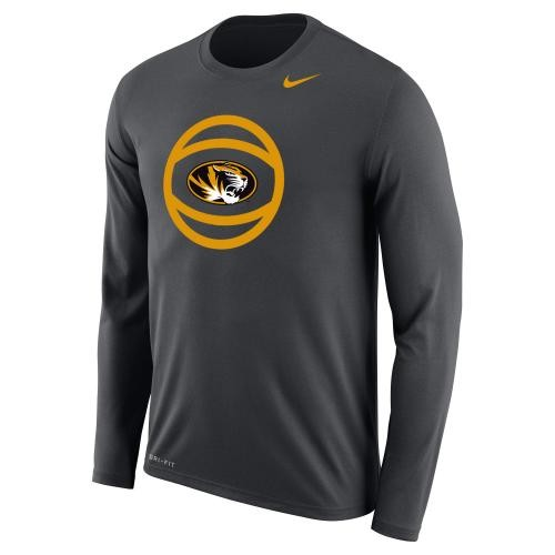 Mizzou Basketball Nike&reg 2017 Charcoal Athletic Shirt