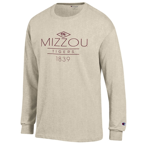 Mizzou Tigers Juniors' Cream Crew Neck Shirt