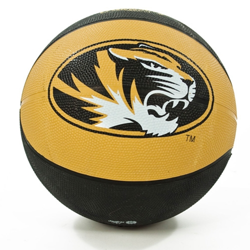 Mizzou Black & Gold Tiger Head Crossover Full Size Basketball