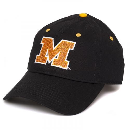 Mizzou Juniors' Sequin Black & Gold Adjustable Hat