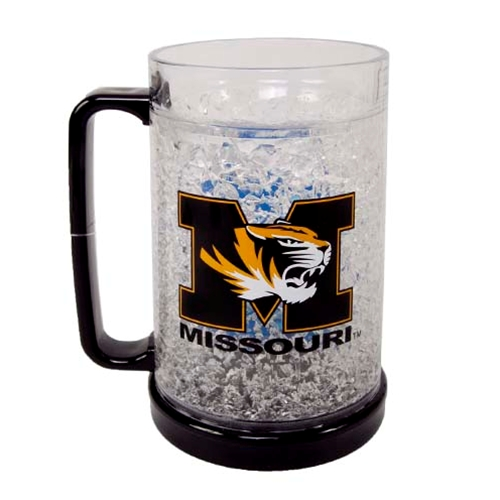 Missouri Tiger Head Black & Gold Freezer Mug
