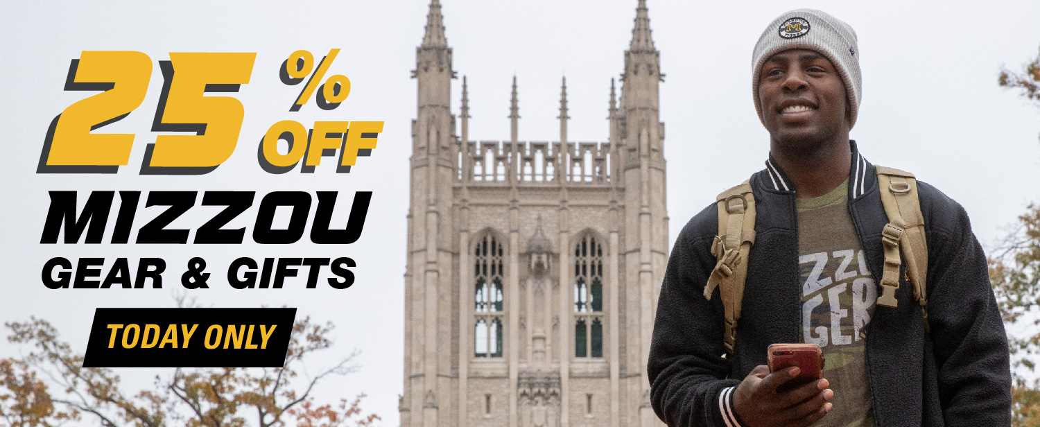 Black and Gold Friday, save 25% on Mizzou Gear and Gifts!