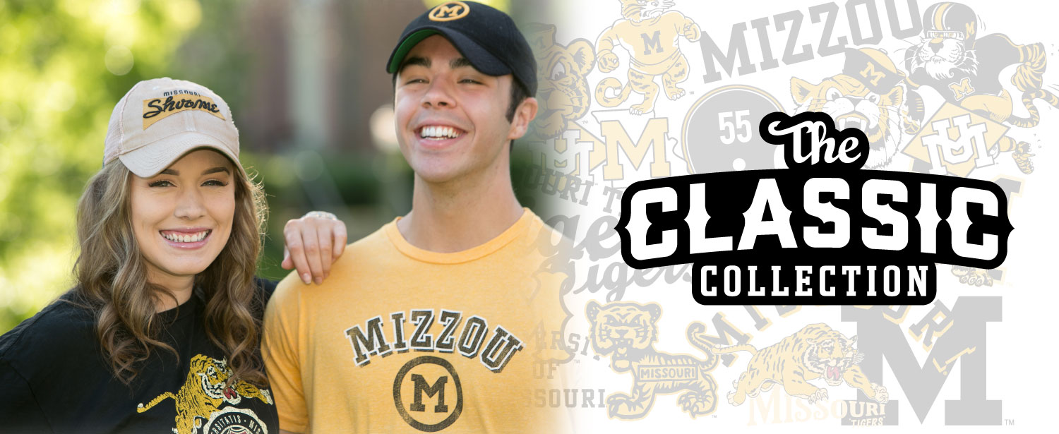 New Classic Collection apparel at the Mizzou Store