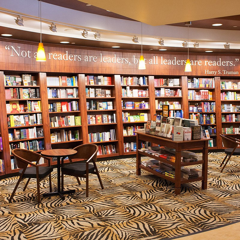 This image shows the inside of the bookstore located on the missouri university of S&T's campus.