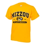 Mizzou Football Oval Tiger Head Gold Crew Neck T-Shirt ee3c5c67f