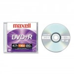 Maxell 4.7GB 16X DVD+R Single Jewel Case Disc