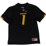 Mizzou Nike&reg Kids' Black #1 Replica Football Jersey