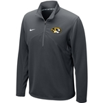 Mizzou Nike&reg Oval Tiger Head Charcoal 1/4 Zip Sweatshirt