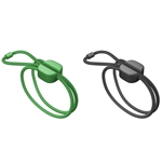 Pixi Green & Black Medium Cable Ties