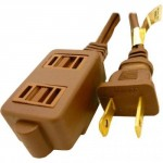 Professional Cable 9' 3-Outlet Standard Brown Extension Cord