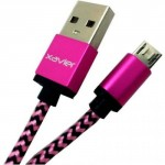 Professional Cable Pink Micro USB 6 with Braided Wire