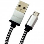 Professional Cable Silver Micro USB 6 with Braided Wire