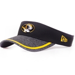 Mizzou Oval Tiger Head Black & Grey Visor