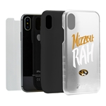 Missouri Tigers Mizzou-rah™ Clear Hybrid Case for iPhone X with Guard Glass Screen Protector