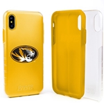 Missouri Tigers Clear Hybrid Case for iPhone X with Guard Glass Screen Protector