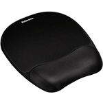 Fellowes Mouse Pad w/Wrist Rest, Nonskid Back