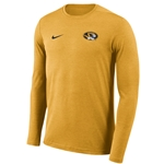 Mizzou Nike reg Oval Tiger Head Gold Athletic Shirt 55432d3b5