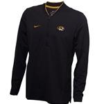 18a8cf5a0f Mizzou Nike Oval Tiger Head Black 1/4 Zip Sweatshirt