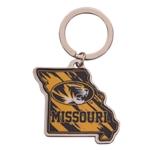 Gold University of Missouri Teardrop Keychain
