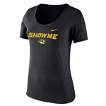Mizzou Nike&reg 2018 Juniors' Black V-Neck T-Shirt
