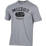 Mizzou Tigers Historic Columns Grey Crew Neck T-Shirt
