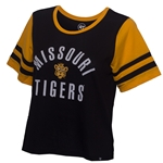 Missouri Tigers Juniors' Black & Gold Crew Neck T-Shirt